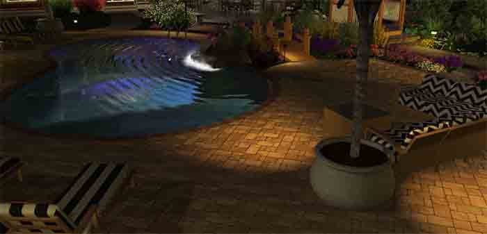 Outdoor garden lighting led landscape lighting design in perth our services aloadofball Gallery