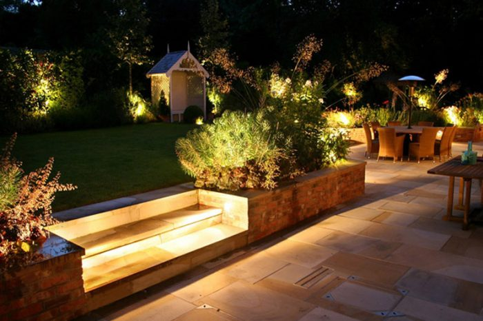Ambient garden lighting landscape ambient lighting