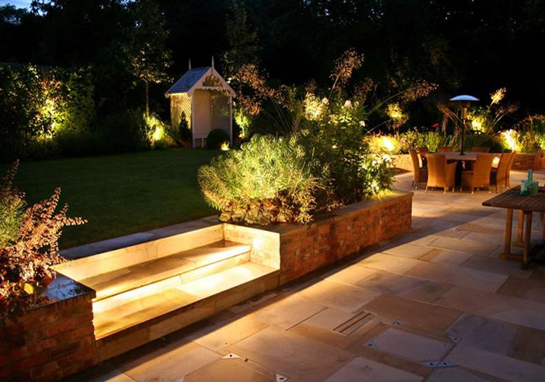 Led garden lights outdoor lighting ideas perth garden - Luces de terraza ...